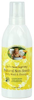 earth mama angel baby non-scents baby shampoo body wash