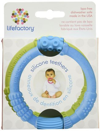 Lifefactory silicone non-toxic teething rings