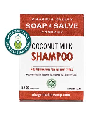 Chagrin Valley Coconut Milk Shampoo Bar with Green Baby Deals Approved Seal