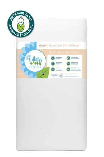 Lullaby Earth WispAir Breathable Crib Mattress GBD approved