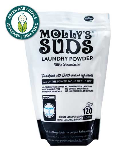 Mollys Suds Unscented 120 loads non-toxic laundry detergent