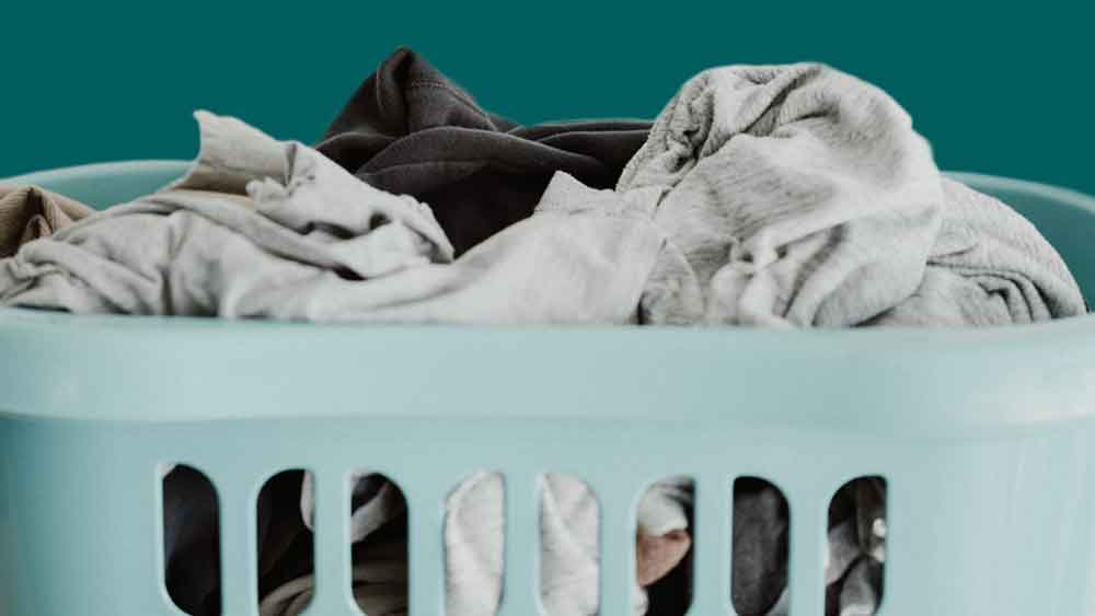 laundry in laundry basket
