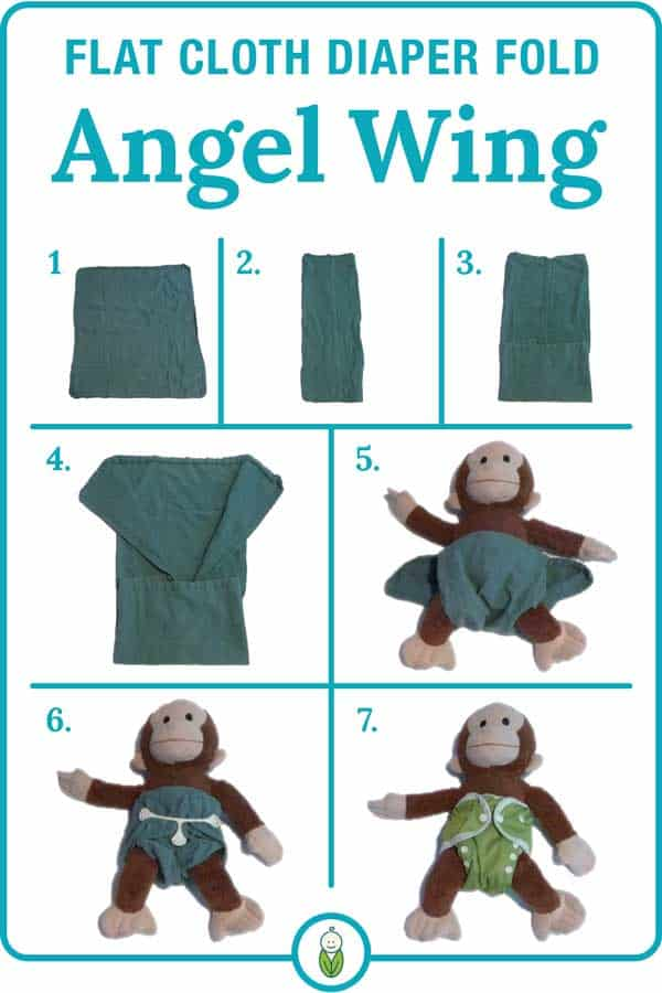 how to flat cloth diaper fold angel wing