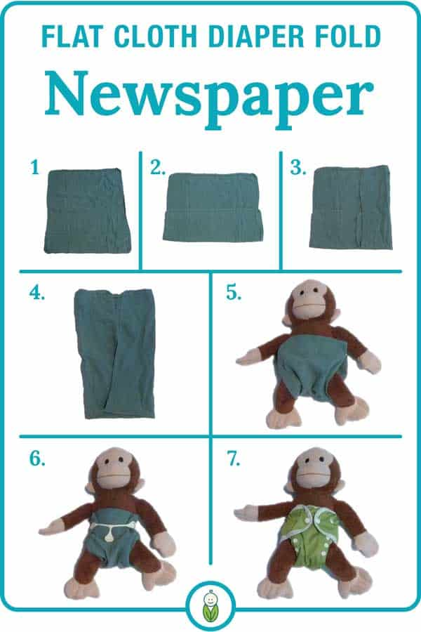 how to flat cloth diaper fold newspaper