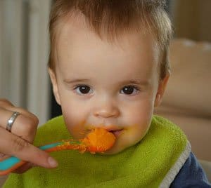 eating organic baby food