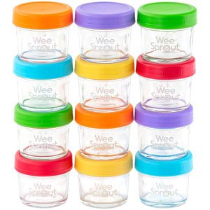 wee sprout glass containers milk storage